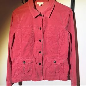 Super soft and stretchy pink corduroy jacket